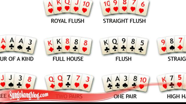Urutan Mengenai Poin Kartu Poker